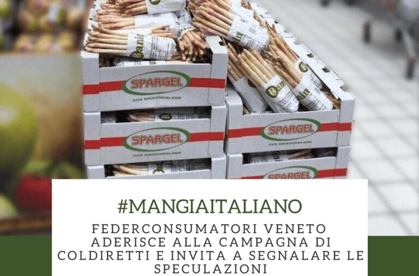 Federconsumatori Veneto aderisce alla campagna di Coldiretti #MANGIAITALIANO