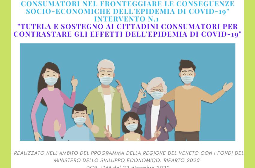 """ARTICOLI RELATIVI AL PROGETTO """"Tutela e sostegno ai cittadini consumatori per contrastare gli effetti dell'epidemia di Covid-19"""""""