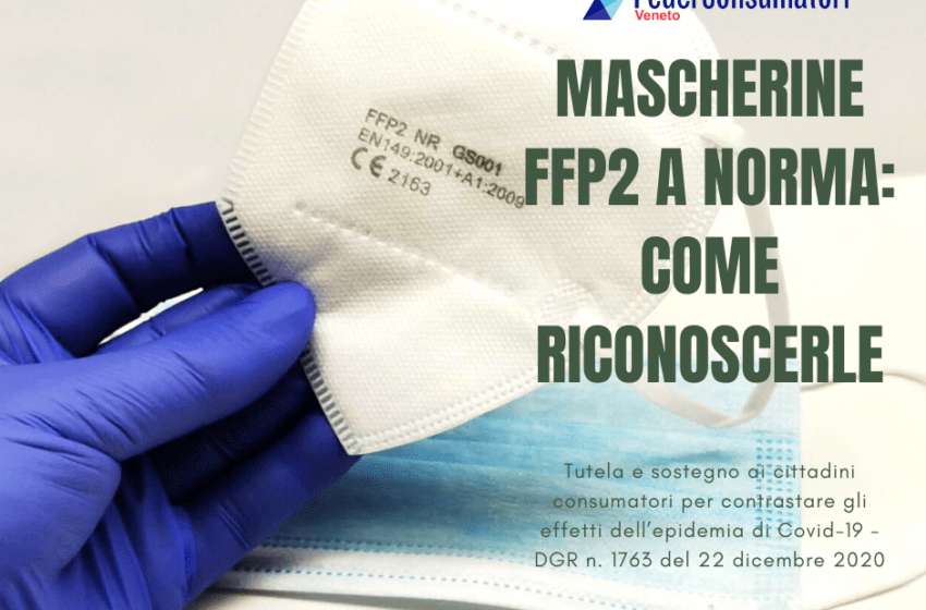 Mascherine FFP2 a norma: come riconoscerle
