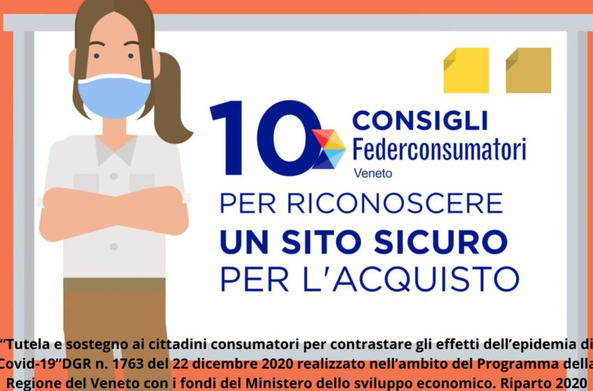 E-commerce: 10 consigli di Federconsumatori Veneto per effettuare acquisti in sicurezza