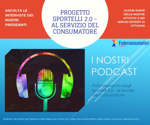 "Progetto ""Sportelli 2.0"": ascolta i nostri PODCAST"