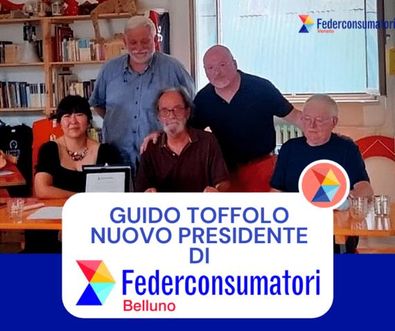 Guido Toffolo è il nuovo Presidente di Federconsumatori Belluno