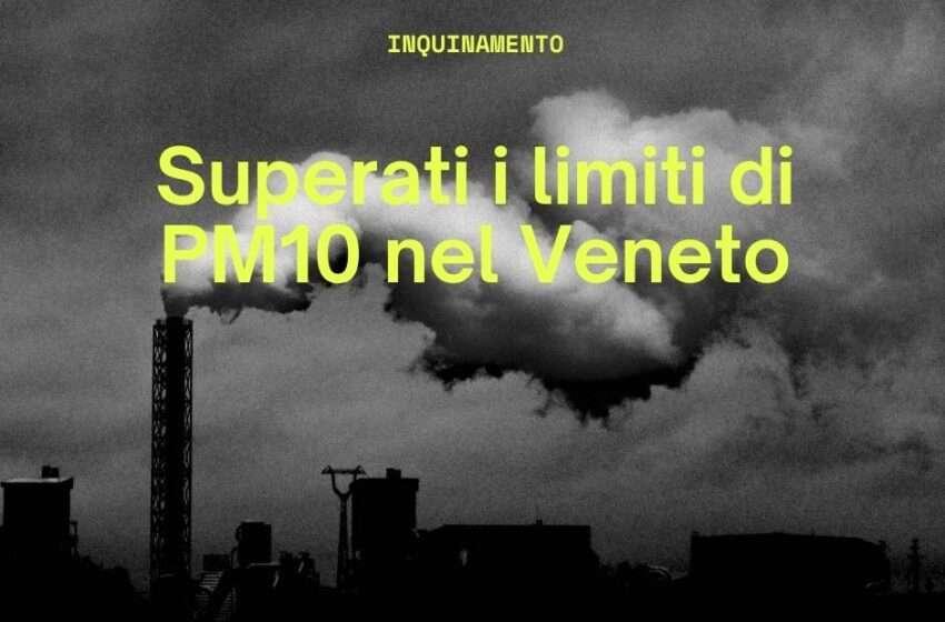 Maglia nera al Veneto per emissioni di PM10